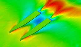 CFD modeling of flow around each hull - this type of analysis