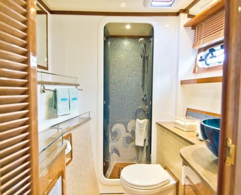 Luxury-Power-Catamaran-Water-Toilet-shower-separate